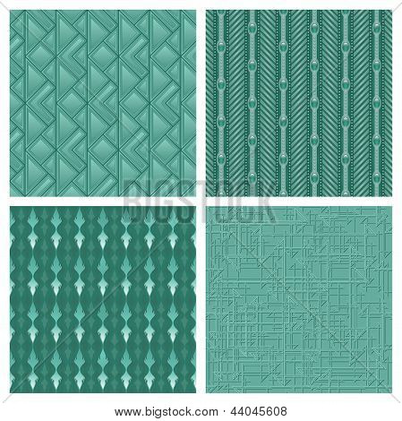 Elegant Teal Pattern Collection