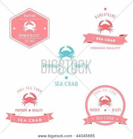 Vintage Sea Crab Badge set