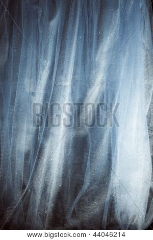 abstract shiny tulle fabric studio shot