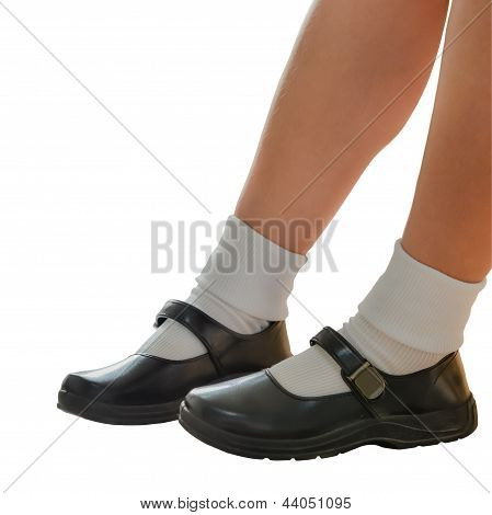 Thai Schoolgirl's Shoe Isolation