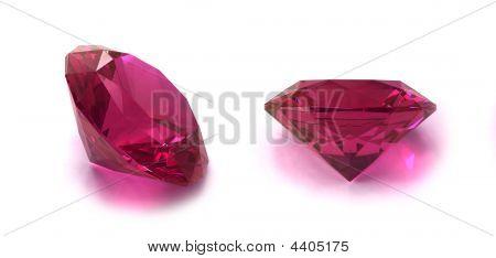Rhodolite Or Ruby Gemstone