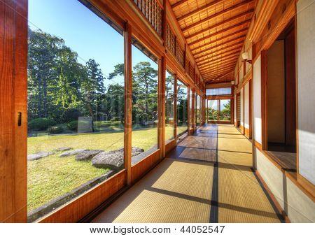Fujita memorial Japanese garden in Hirosaki, Japan.