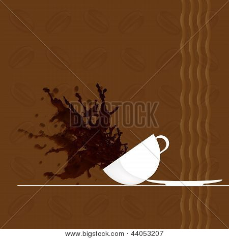 Coffee background.Restaurant business card.