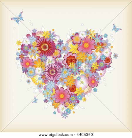Blumen Herz