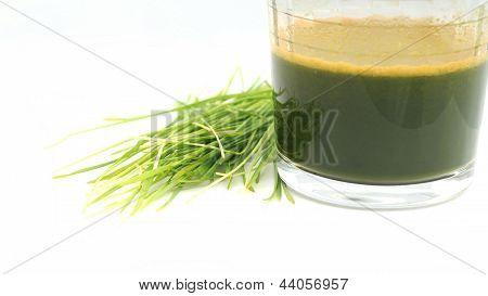 Jugo de la hierba de trigo