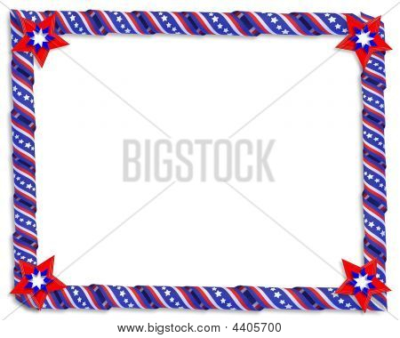 Patriotic Ribbons Border