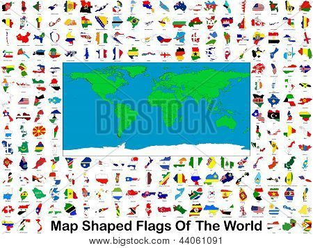 Map Shaped Flags Of The World