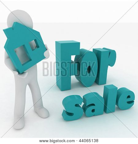 A person makes a presentation of the new homes for sale