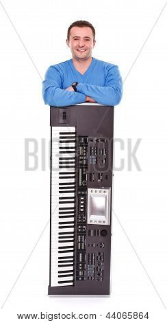 Posing With Synthesizer