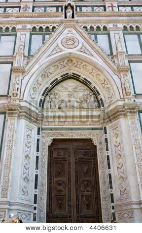 Doorway On Cathedral Of Santa Maria Del Fiore