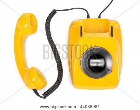 Rotary Phone With Spinning Dial