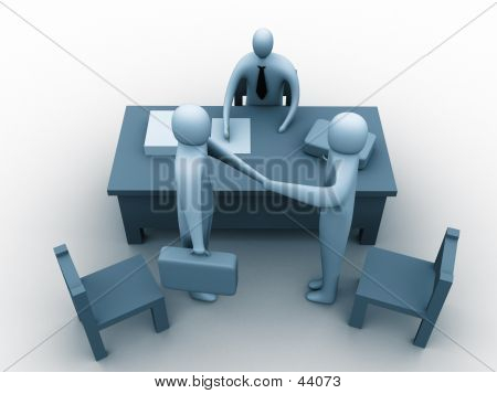 3d People In An Office