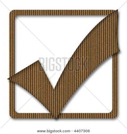 Cardboard Tick Mark