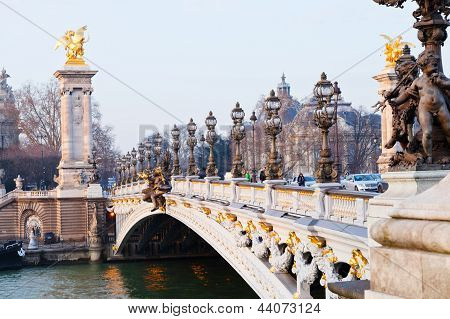 Pont Alexandre Iii In Paris