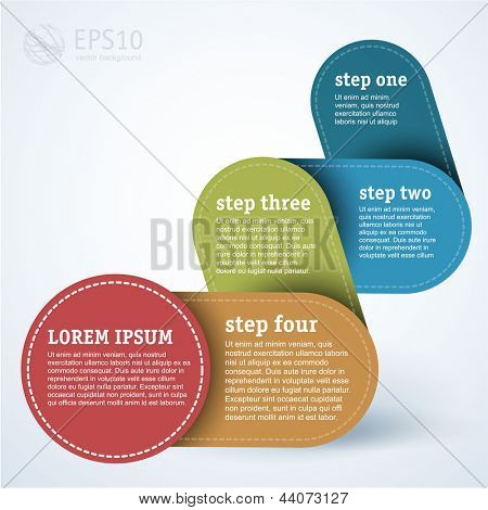 Simply infographic step by step template