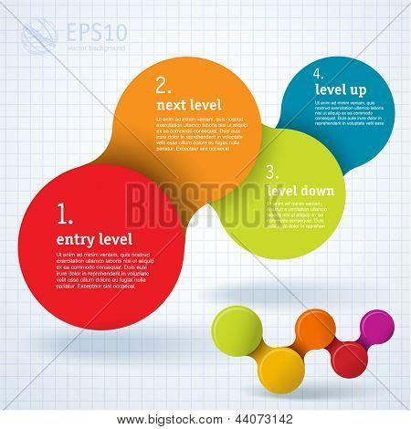 Infográfico simplesmente mínimo modelo de design. Vector.