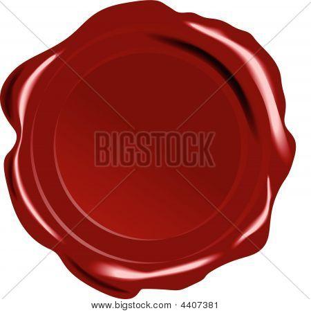 Sello de cera roja Vector