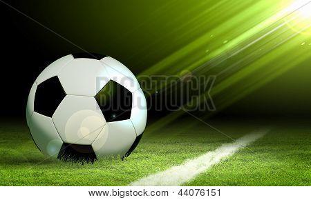 Schwarze und weiße Fußball