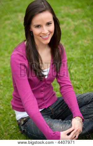 Female Student Outdoors