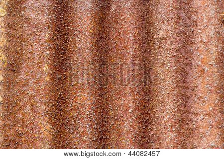 Rust On Galvanized Iron Sheet