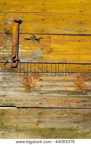 Old Wooden Farm Barn Door Background