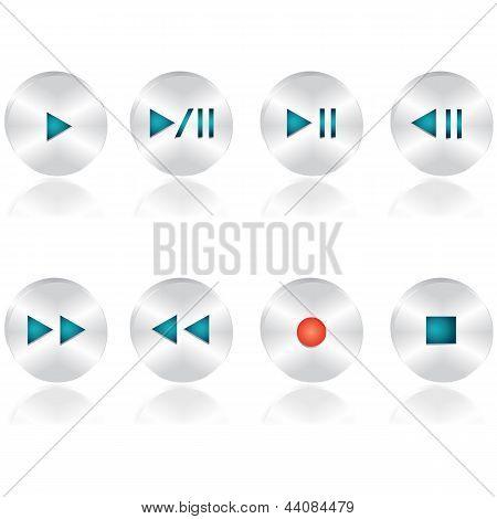 Audio buttons set