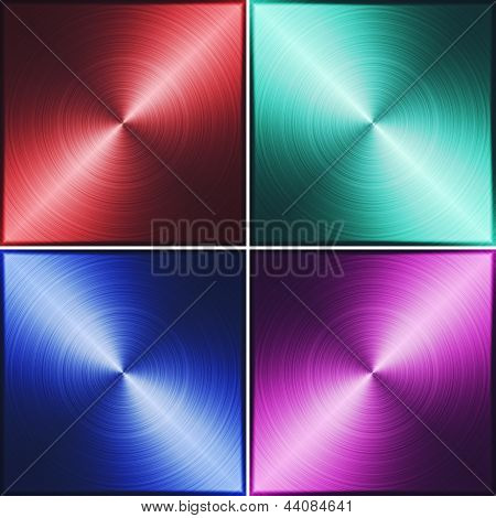 Red, Green, Blue And Purple Metallic Texture