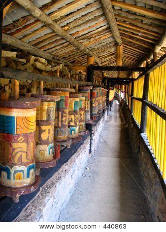 Colorful Prayer Wheels