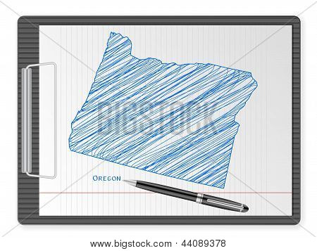 Clipboard Oregon Map
