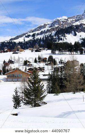 Alpen Berge von Winter, Moose, Schweiz
