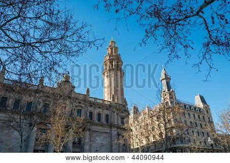 Postal and telegraph building in Barcelona, Spain