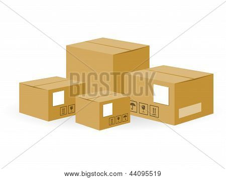 Brown Shipping Boxes