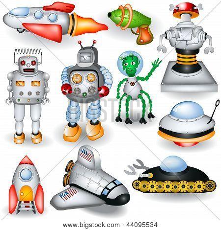 Retro Future Icons