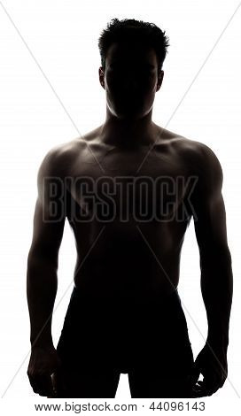 Muscular Man In Silhouette