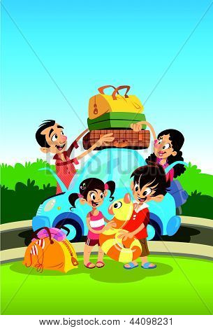 Family Preparing For Vacations