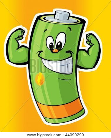 Happy Super Strong Cartoon Battery