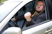 foto of angry man  - photo of angry man driving by car - JPG