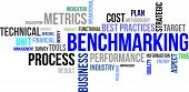 picture of performance evaluation  - A word cloud of benchmarking related items - JPG