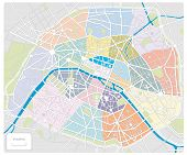 Map Of Paris/france