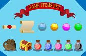 game items set