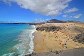 stock photo of papagayo  - Famous beach on Canary Islands  - JPG