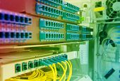 pic of cisco  - Technology center with fiber optic equipment - JPG