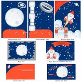 Retro Space Stationary