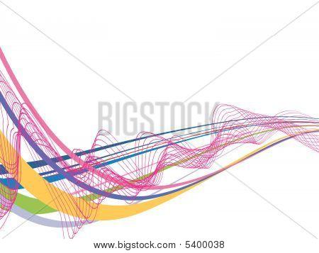 Línea de la onda de arco iris