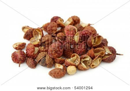 Sichuan pepper isolated on white background