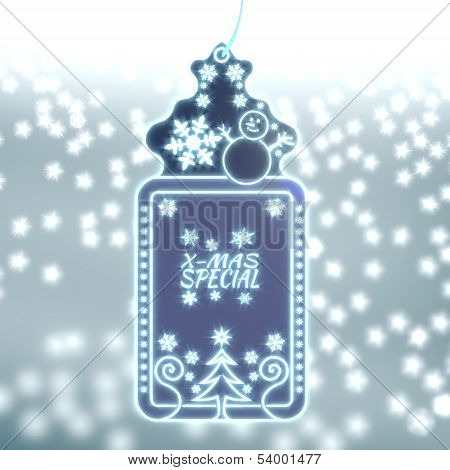 Magic Christmas Label With Christmas Special Sticker