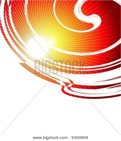 Fire Spiral Business Card