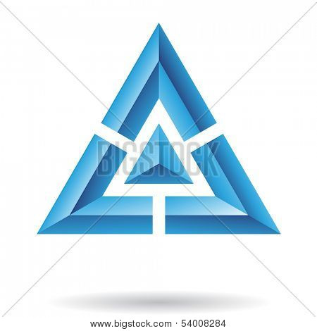 Triangle Pyramid Abstract Icon