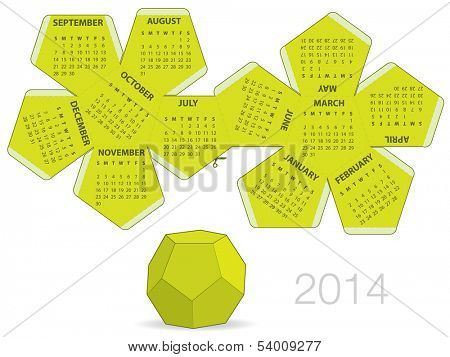 Dodecahedron 2014 calendar