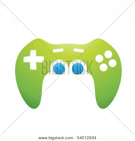 Illustration of PC Accessories Game Controller isolated on a white background
